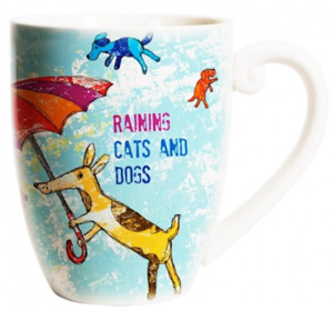 cats and dogs coffee cup